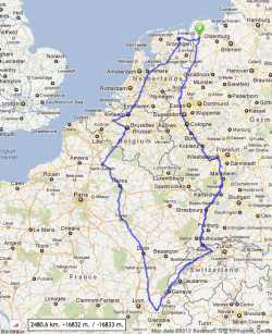 Euro Tour 2013 (suggested route 2012-02-19)